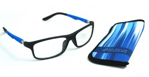 Serelo Reading Glasses - Knutsford Blue Design - 3.00